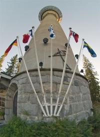 kuva 018266 . Puijon torni Kuopiossa (kuvattu paneelin aikaan) . 17.9.2005