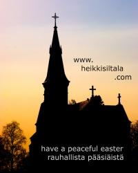 kuva 034325 . bonuskuva Sipoon uusi kirkko kiirastorstain 2006 ilta-auringossa . 1.4.2006
