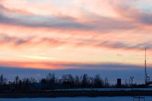 photo 061430 . Sunset at Seinäjoki Horse Race Center . 2007-03-10