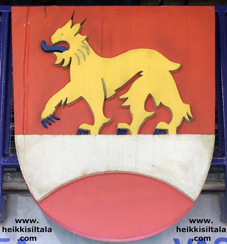 Heinolan vaakuna Heinolan jäähallissa, kuva 093305, 3.5.2008