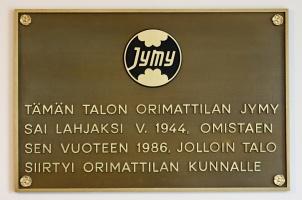 kuva 104064 . Jymylinna, Orimattila: Tämän talon Orimattilan Jymy sai lahjaksi v. 1944, omistaen sen vuoteen 1986, jolloin talo siirtyi Orimattilan kunnalle. . 14.9.2008