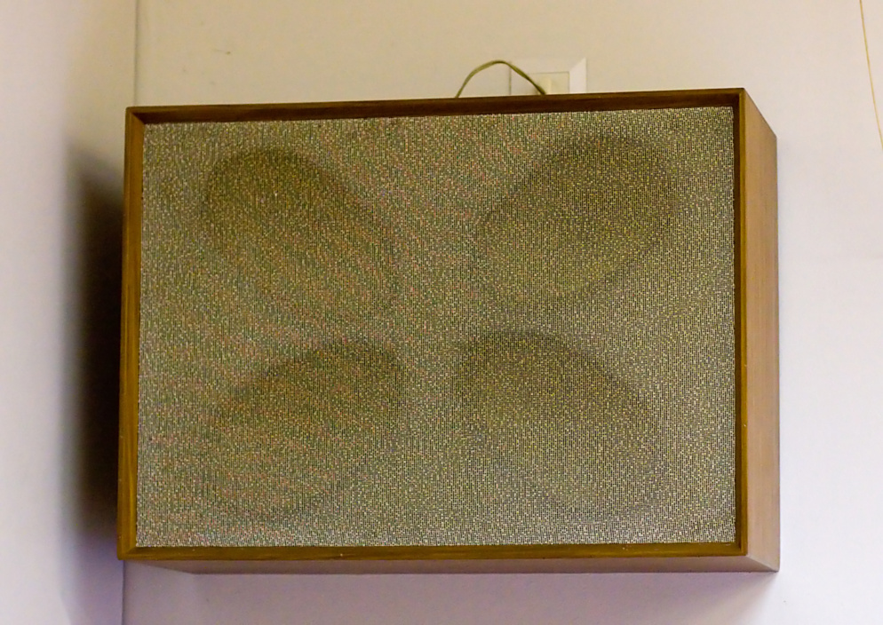 an old four-element speaker baffle, right channel, photo 105008, 2008-09-20