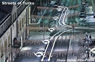 kuva 115242 . bonuskuva Bonuskuva: Turun kadut (näkymä hotellihuoneen ikkunasta) . 23.11.2008