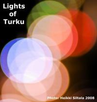 kuva 115243 . bonuskuva Bonuskuva: Turun valot (näkymä hotellihuoneen ikkunasta) . 23.11.2008