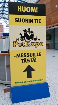 kuva 124001 . Pet Expo -opaste . 5.4.2009