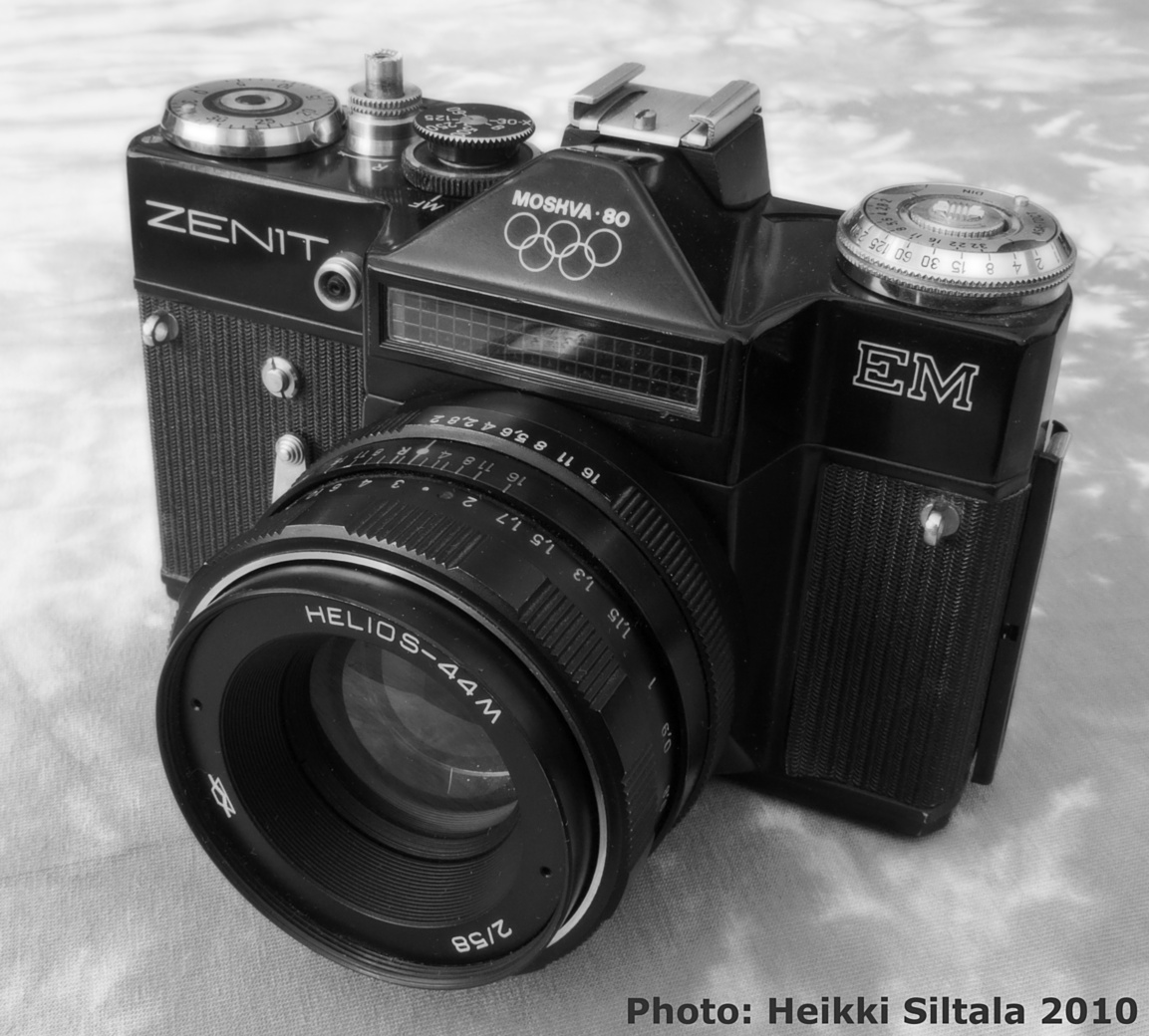 Bonus photo 8/9: my complete set of Zenit Olympics 1980 cameras, Zenit EM black with the olympic rings, photo 156179, 2010-07-31