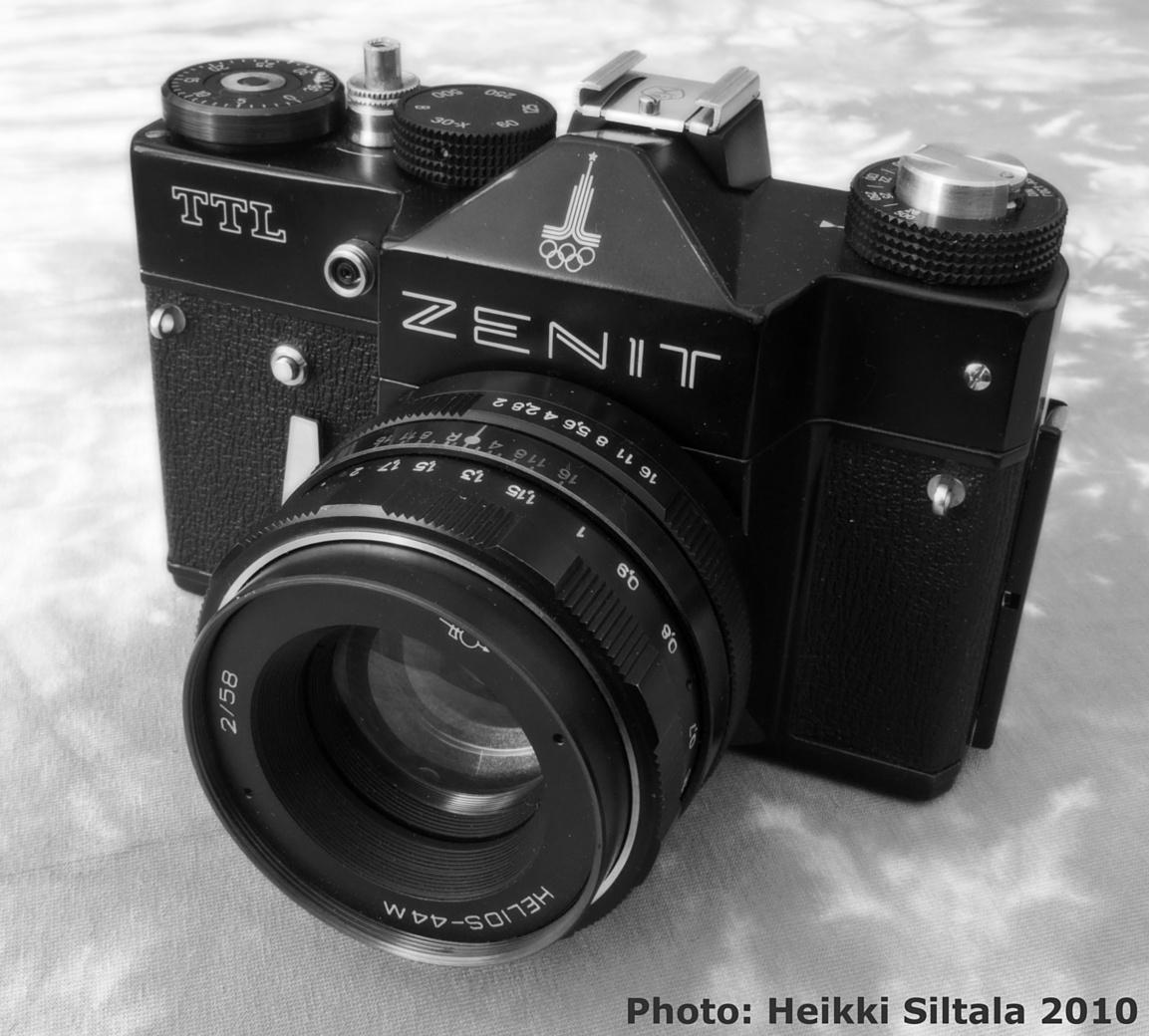 Bonus photo 9/9: my complete set of Zenit Olympics 1980 cameras, Zenit TTL black with the tower logo, photo 156180, 2010-07-31